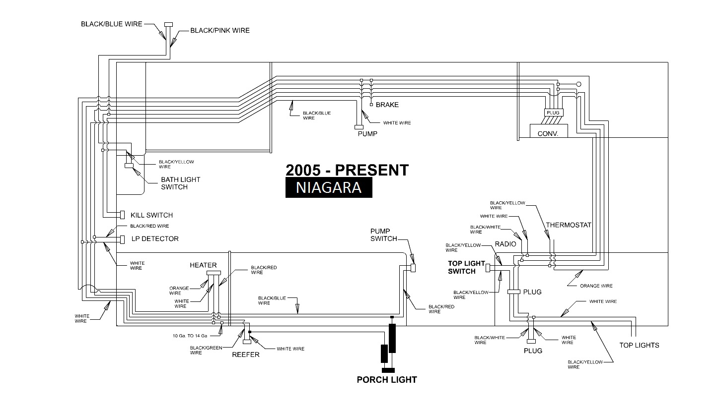 Niagara 12v Wiring pop up camper wiring diagram pop up trailer cable repair \u2022 free Fleetwood RV Electrical Wiring Diagram at bayanpartner.co