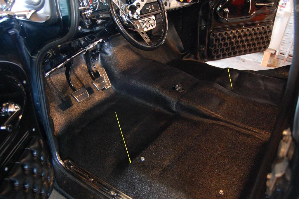 Hd floor mat for 39 60 39 66 chevy gmc trucks for 1 piece floor mats trucks