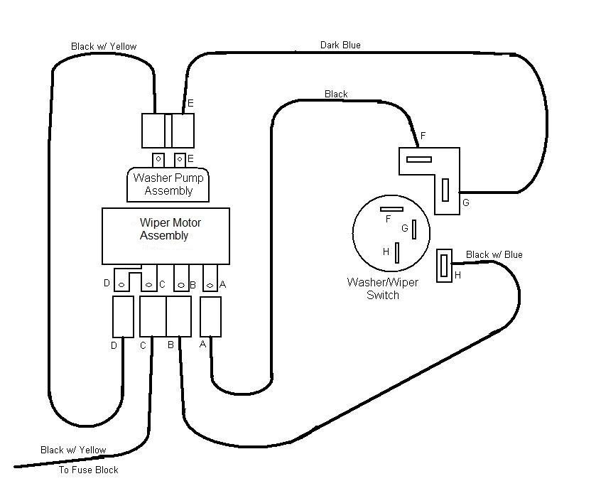 Wiper Diagram stock gm wiper washer system basics 1972 Chevy C10 Wiring-Diagram at gsmportal.co